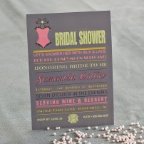 Lingerie Bridal Shower Bachelorette Printable Invitation